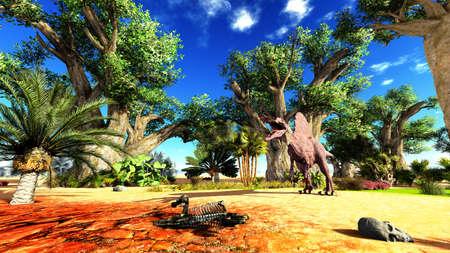 spinosaurus: Spinosaurus Stock Photo
