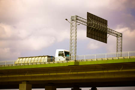 stock vista: Truck on the highway