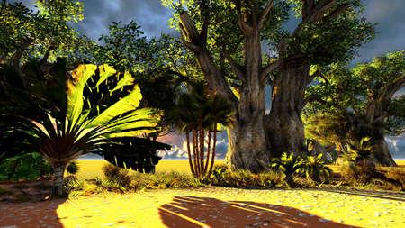 sweltering: African savannah