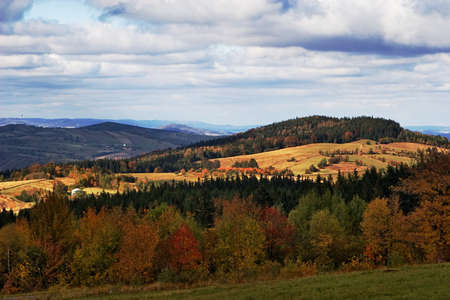 Forested hills in Southern Poland photo