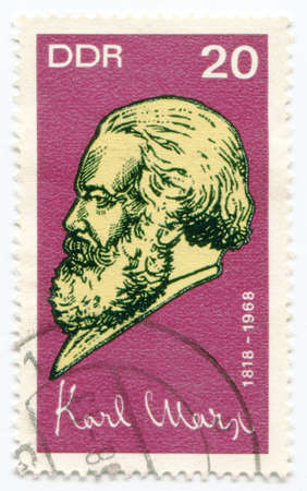 political economist: A stamp printed in Germany