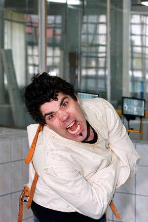 Crazy man photo