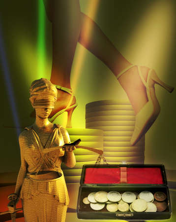 Themis and coins photo