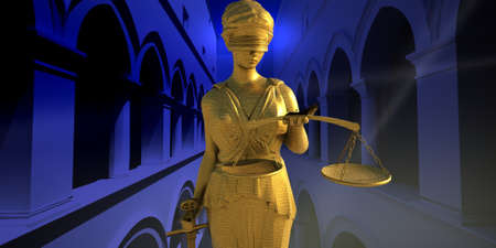 attorney scale: Themis in court