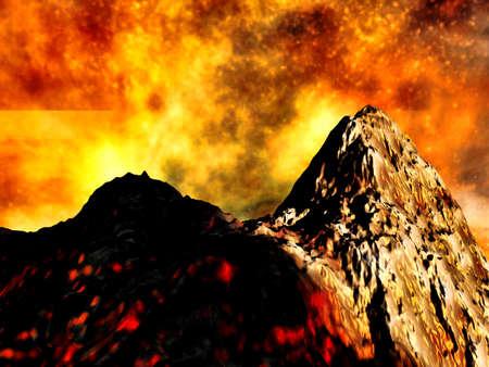 Volcanic eruption photo