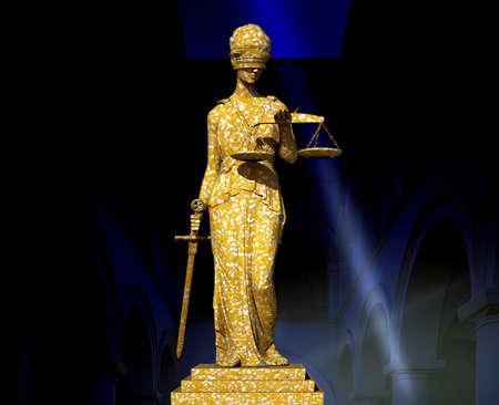 advocate: Themis en los tribunales Foto de archivo