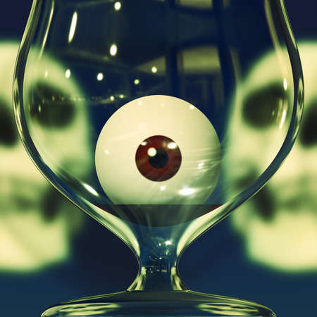 eye socket: Halloween party drink