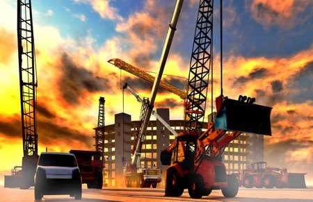 Construction site Reklamní fotografie - 15891071