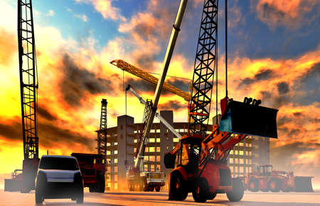 infrastructure buildings: Construction site