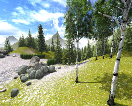 Mountains in spring time Stock Photo - 16593921