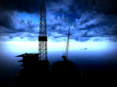 oil money: Oil rig  platform
