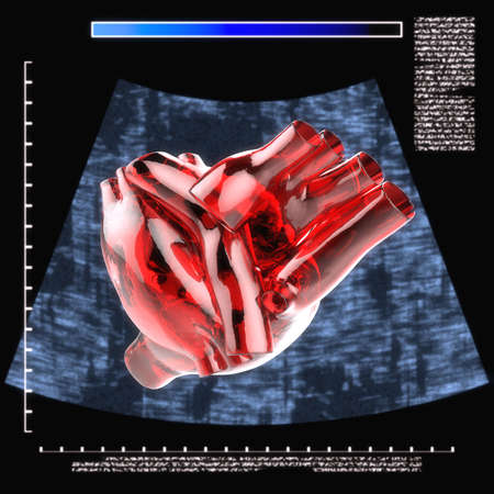 artificial human heart Stock Photo