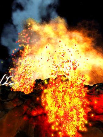 Volcanic eruption Stock Photo - 17952216