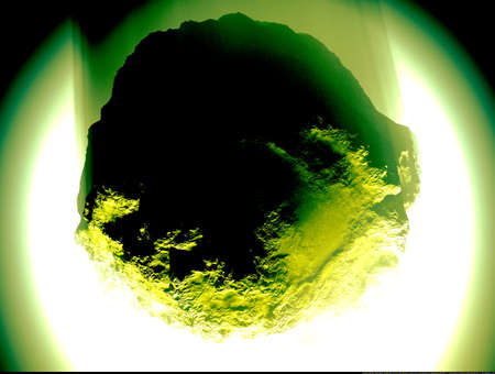 meteor crater: Asteroid on collision with Earth Stock Photo