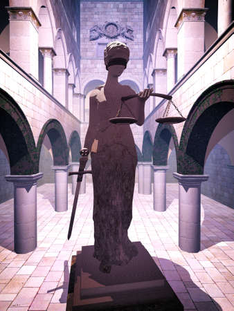 Themis the Justice symbol   photo