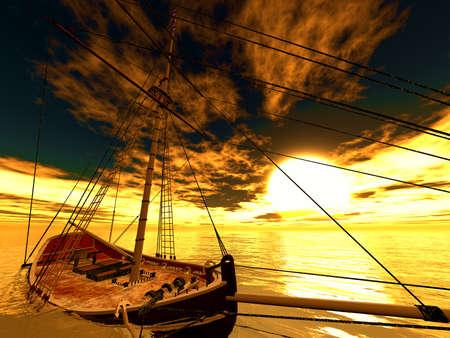 frigate: Sunken old pirate frigate