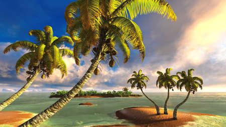 Tropical paradise beach photo