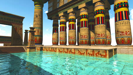 Egyptian swimming pool photo