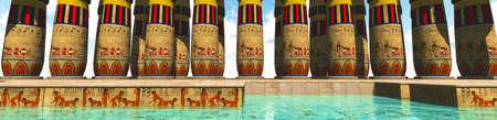 Egyptian swimming pool photo