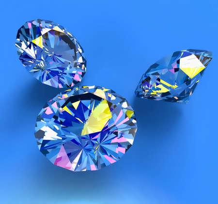 gefacetteerde blauwe diamant