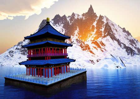 Bhutan: Sun temple - Buddhist shrine