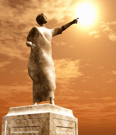 magistrates: Statue of senator Stock Photo