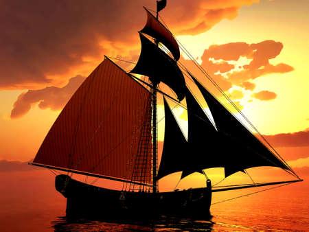 Pirate brigantine photo