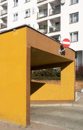 entranceway: Underground garage in city