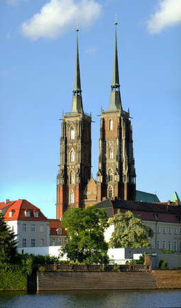 Gothic Cathedral in Wroclaw, Poland photo