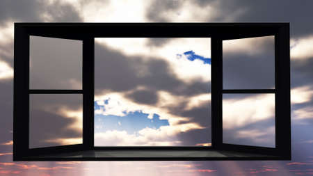 righteous: Window of opportunity Stock Photo