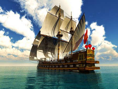 Pirate brigantine Reklamní fotografie - 19422528