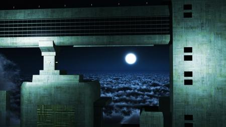 strangeness: Futuristic city in the sky