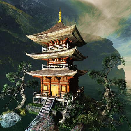 Zen boeddhistische tempel in de bergen