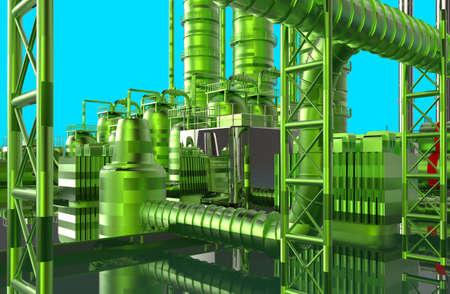 Modern refinery photo