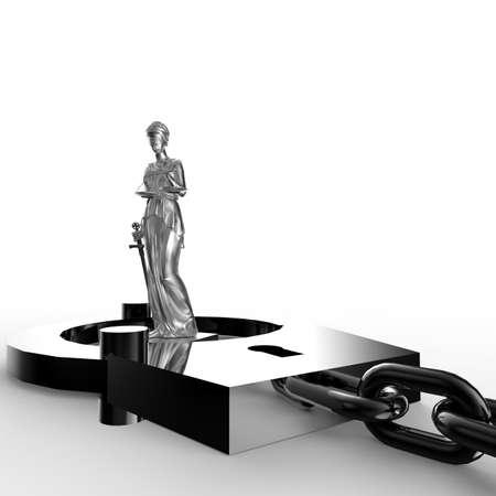 corrupcion: Estatua y handcuffs Themis