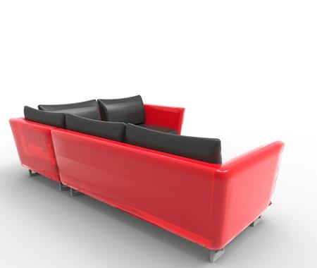 Modern sofa isolated on white background photo