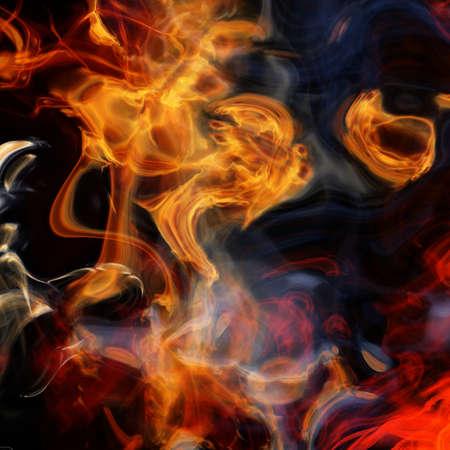 flames and smoke background  - fractal illustration illustration