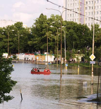 dolnoslaskie: Flooded city of Wroclaw in 2010