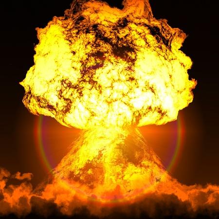 Alarme nucléaire - temps d'abandonner arsenal nucléaire Banque d'images