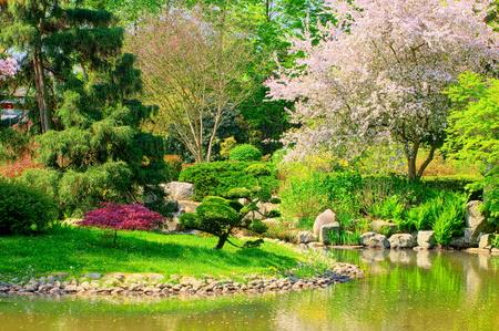 Japanse tuin in Wroclaw, Polen