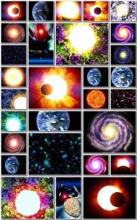 Fond astronomique avec des étoiles et des galaxies