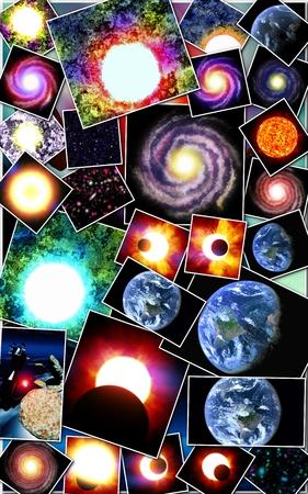 Astronomique avec des étoiles et des galaxies
