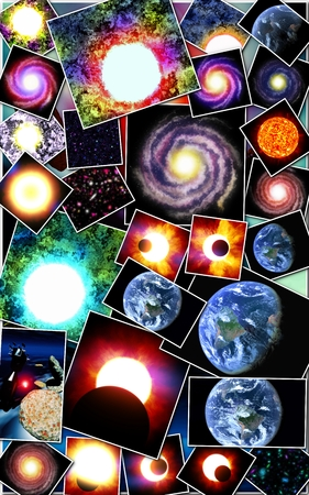 Astronomical with stars and galaxies
