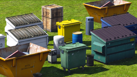 Afvalcontainers en slaat op de GOSsen