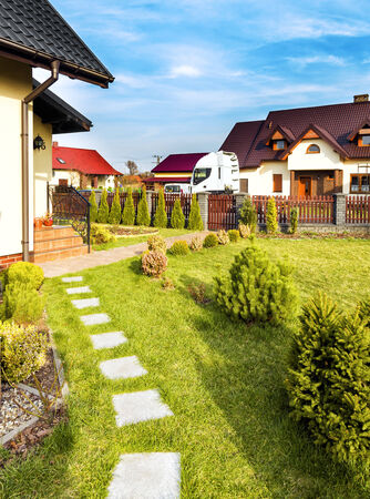 Residential house in the suburbia Stock Photo