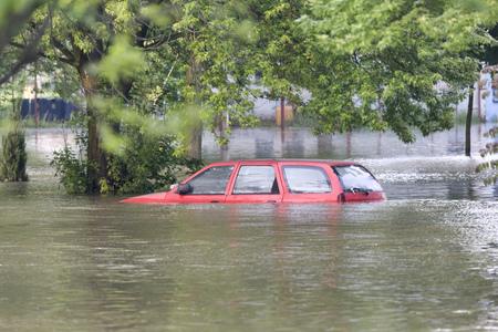 Overstroomde straat