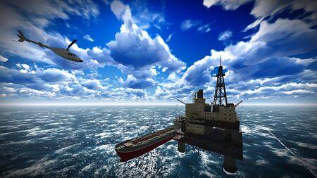 Ölplattform-Plattform