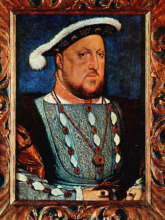 Henry VIII on old painting