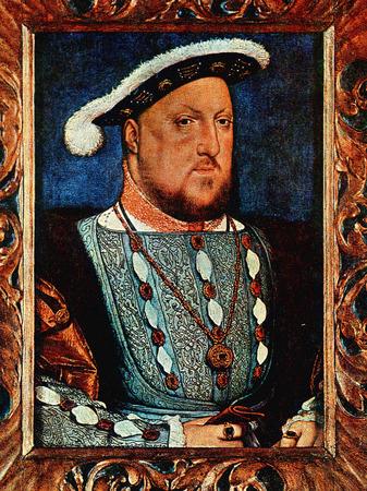 Henry VIII op het oude schilderen Redactioneel