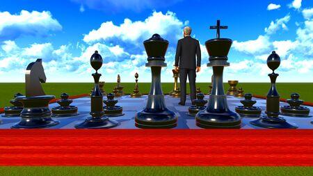 チェスボード上の実業家